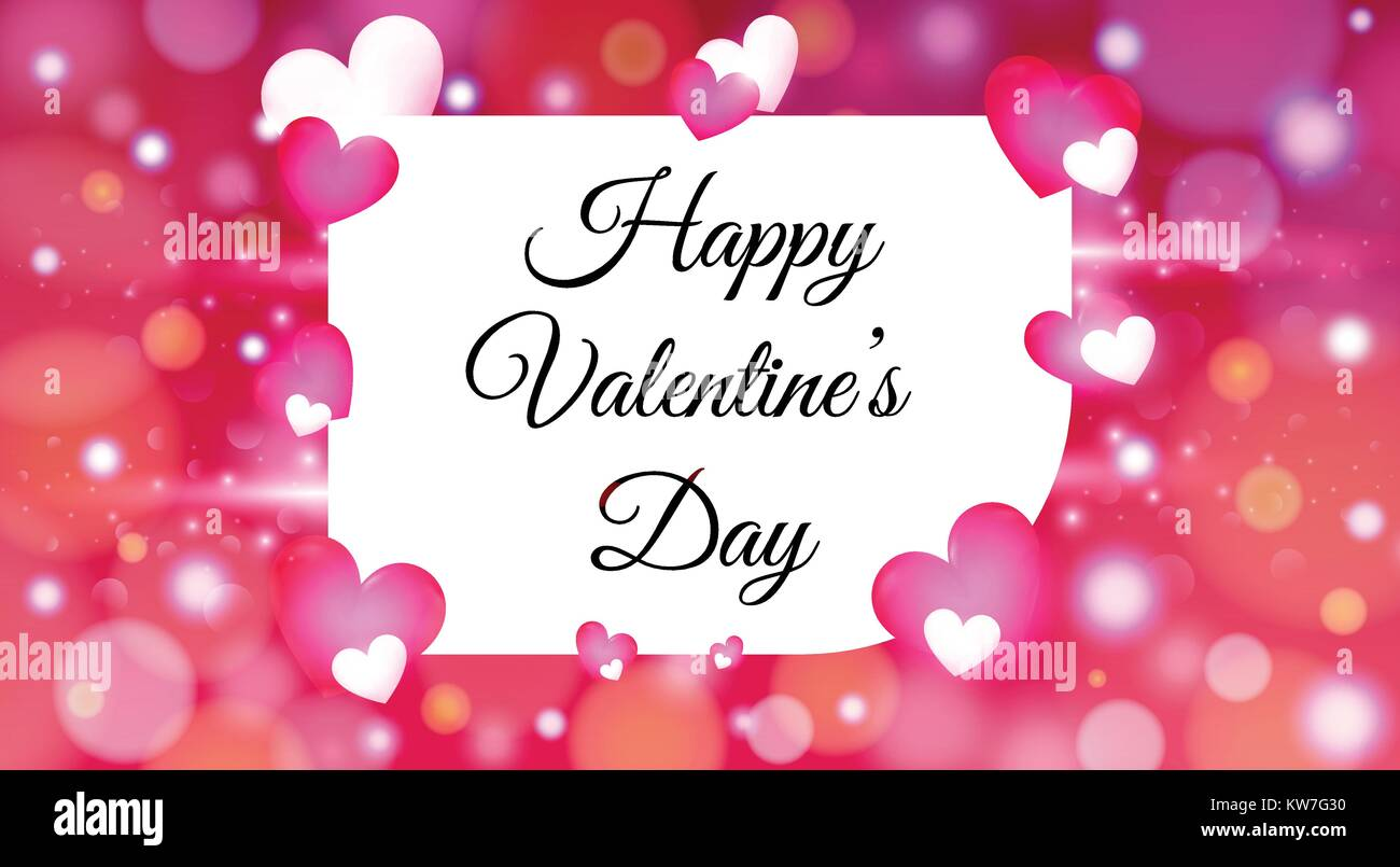 Valentines Day With Colorful Hearts Background Wallpaper