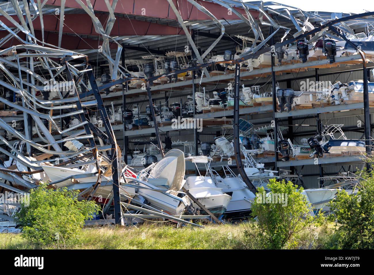 Hurricane 'Harvey'   2017  storm damage. - Stock Image