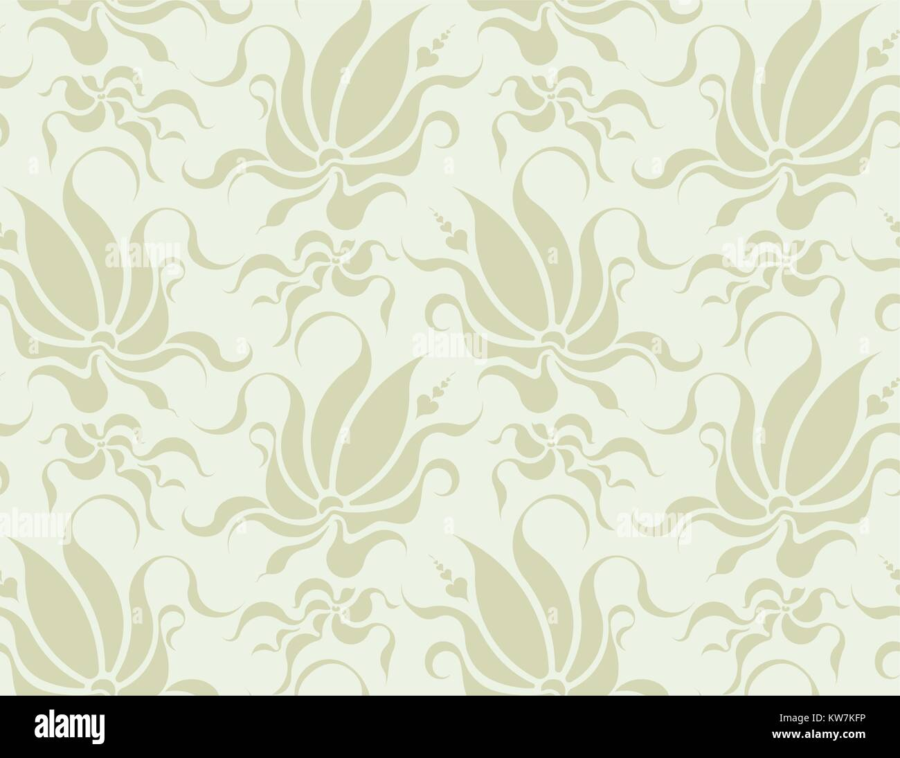 Abstract floral seamless background in very light, gentle tones. - Stock Vector