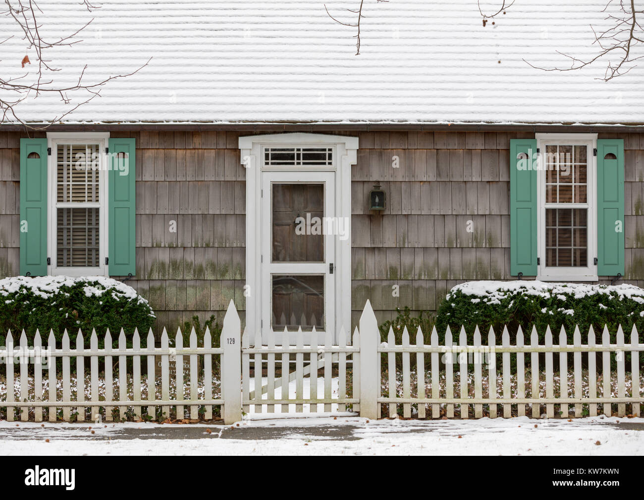 detail of a southampton home - Stock Image
