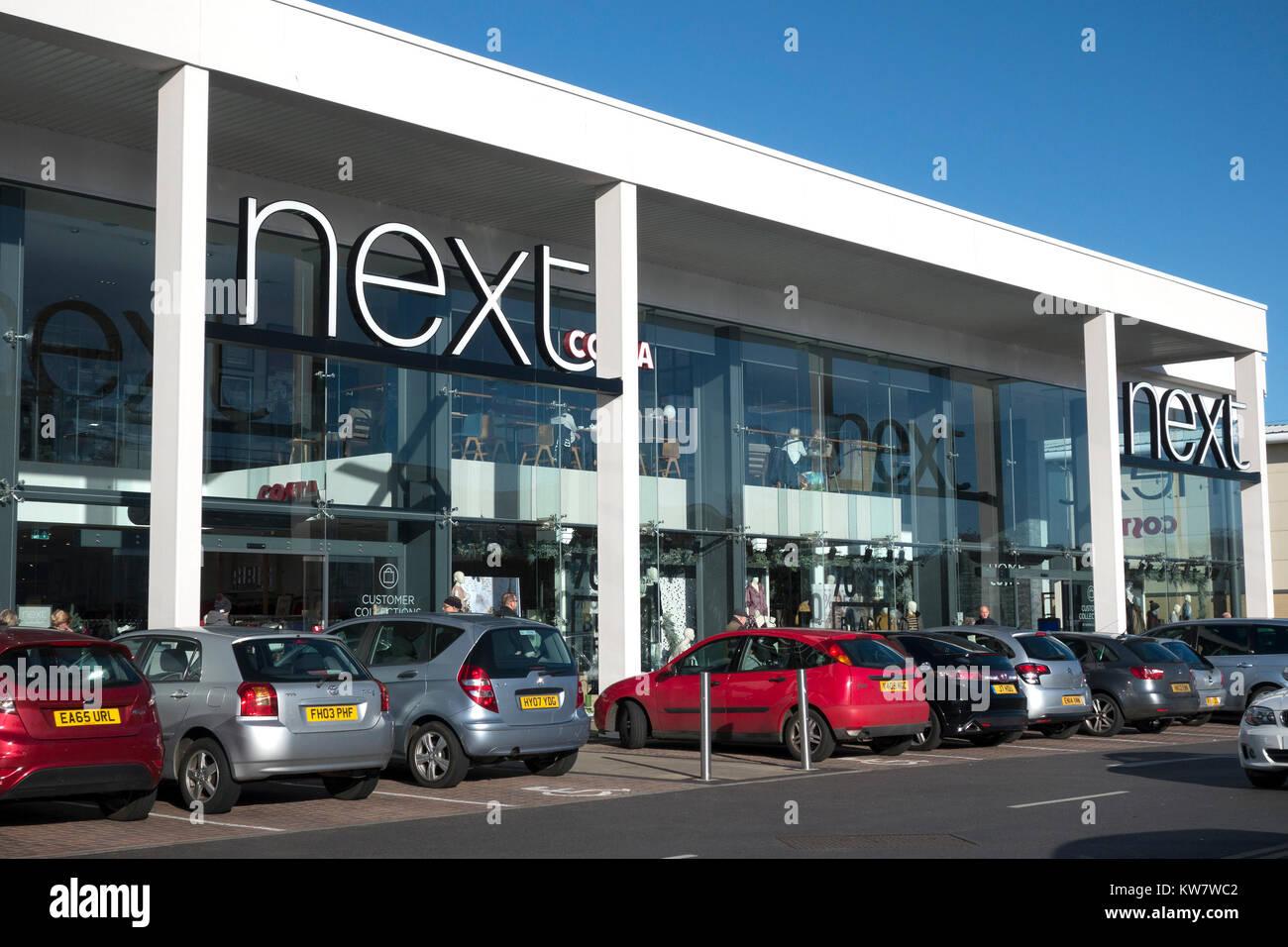Next store at Solent Retail Park, Havant, Hampshire, UK - Stock Image
