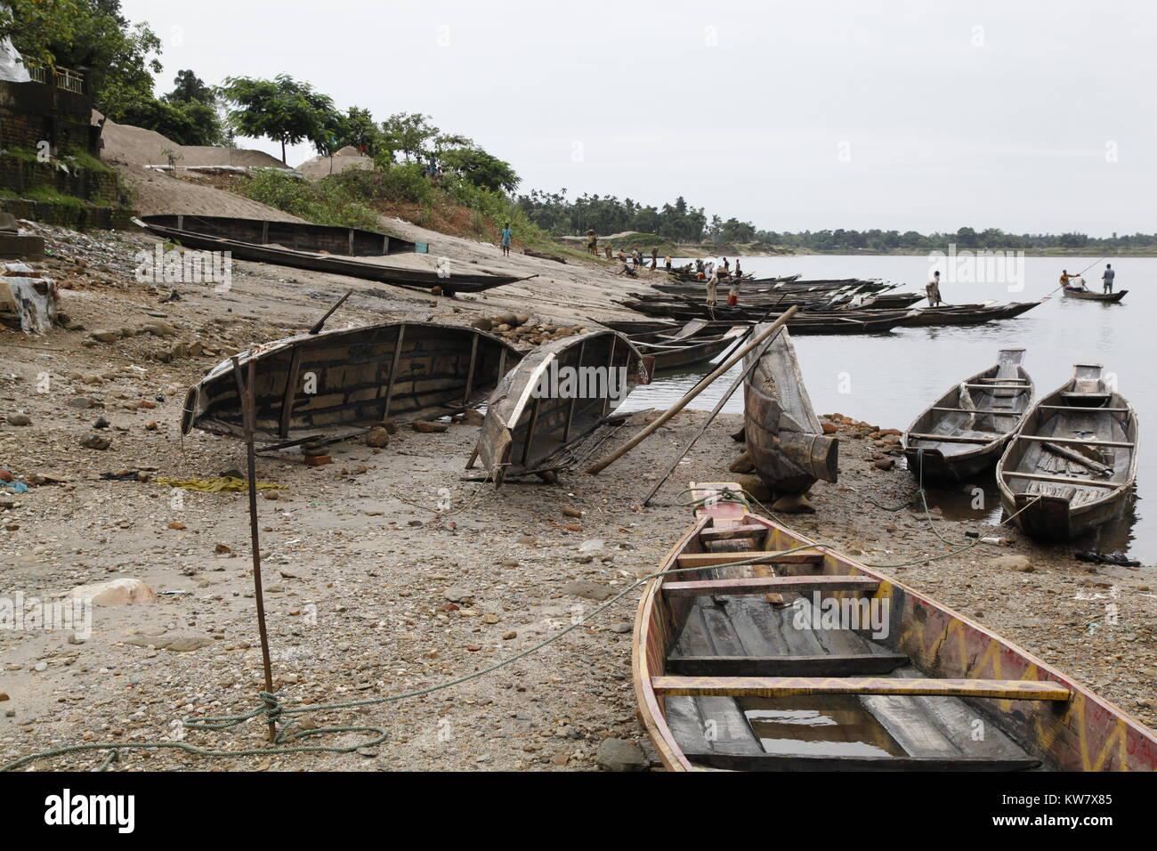 Boat yard, Bangladesh - Stock Image