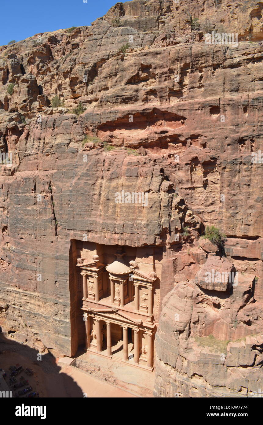 Petra UNESCO World Wonder Jordan - Stock Image