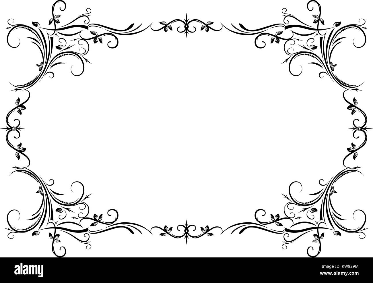 Vintage black frame with empty place for your text or other design ...