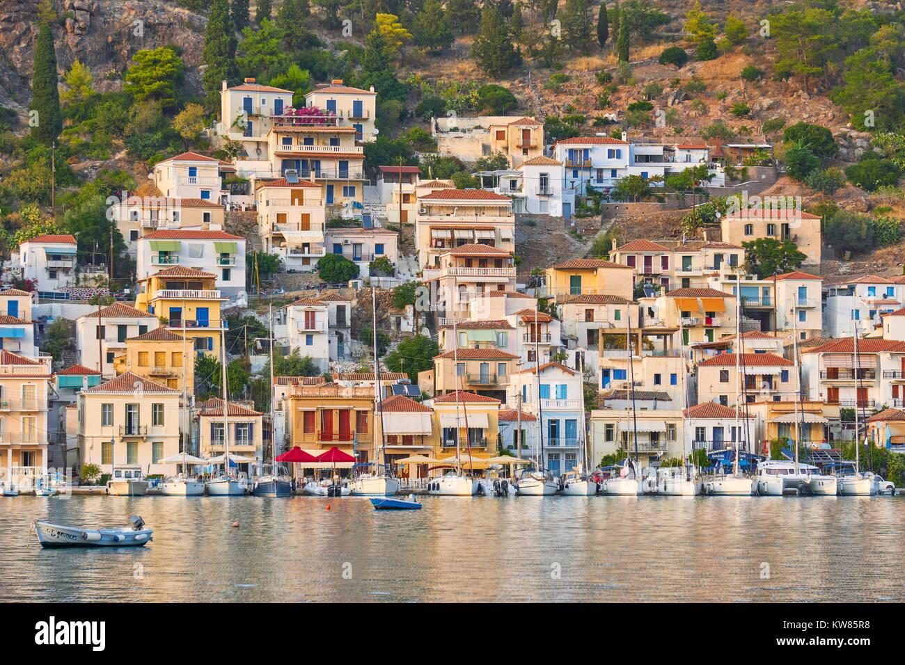 Poros Island, Argolida, Peloponnese, Greece Stock Photo
