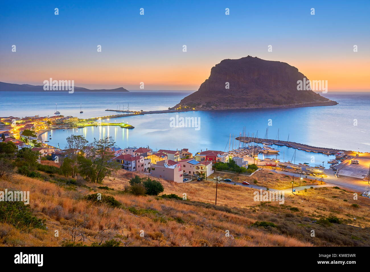 Monemvasia, Peloponnese, Greece - Stock Image