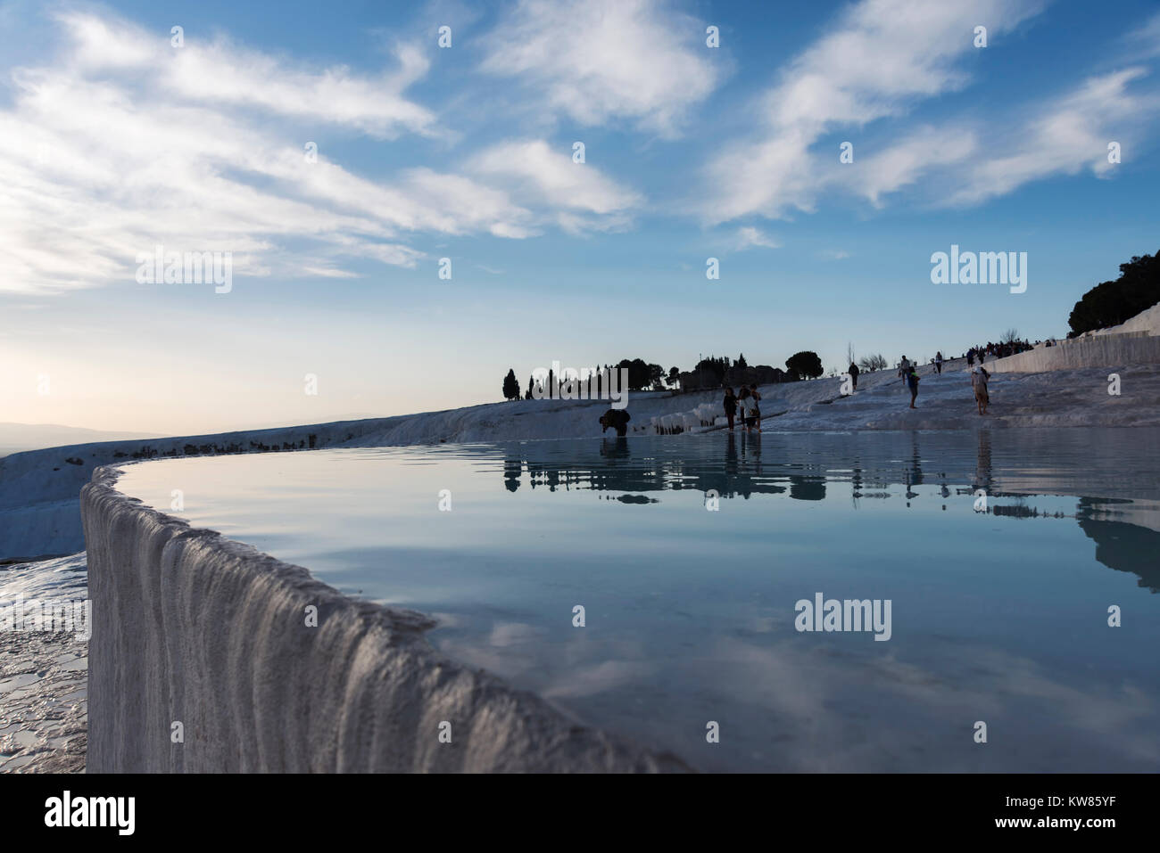 JANUARY 24; 2015 PAMUKKALE Pamukkale,is a natural site in Denizli Province in southwestern Turkey. Unidentified - Stock Image