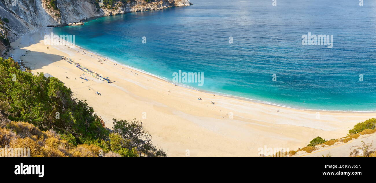 Myrtos Beach, Kefalonia (Cephalonia) Island, Greece - Stock Image