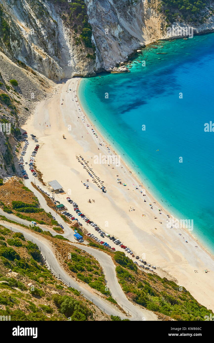 Myrtos Beach, Kefalonia (Cephalonia), Greek Ionian Islands, Greece - Stock Image