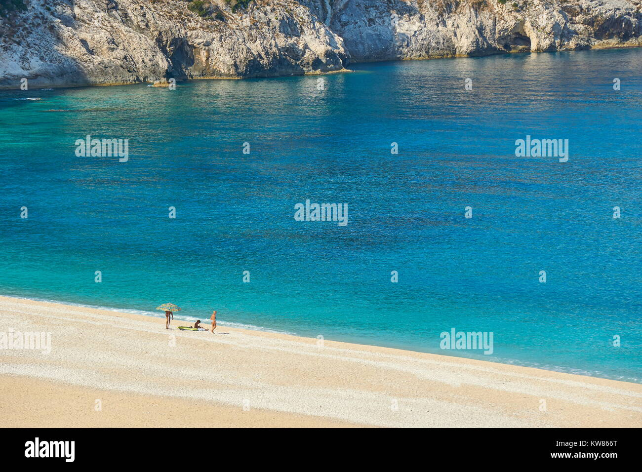 Greece - Myrtos Beach, Kefalonia (Cephalonia), Greek Ionian Islands Stock Photo