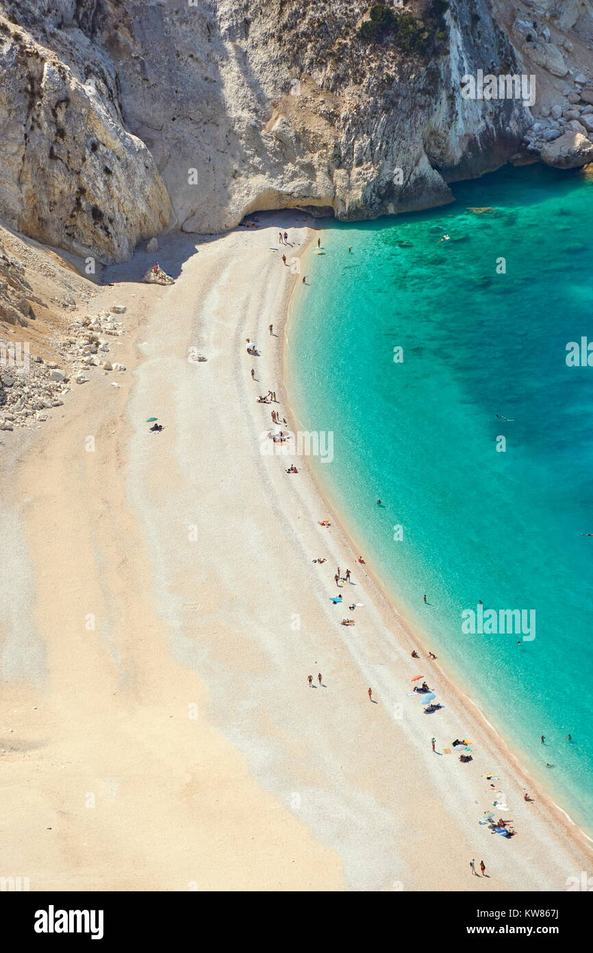 Myrtos Beach, Kefalonia (Cephalonia), Greek Ionian Islands, Greece Stock Photo