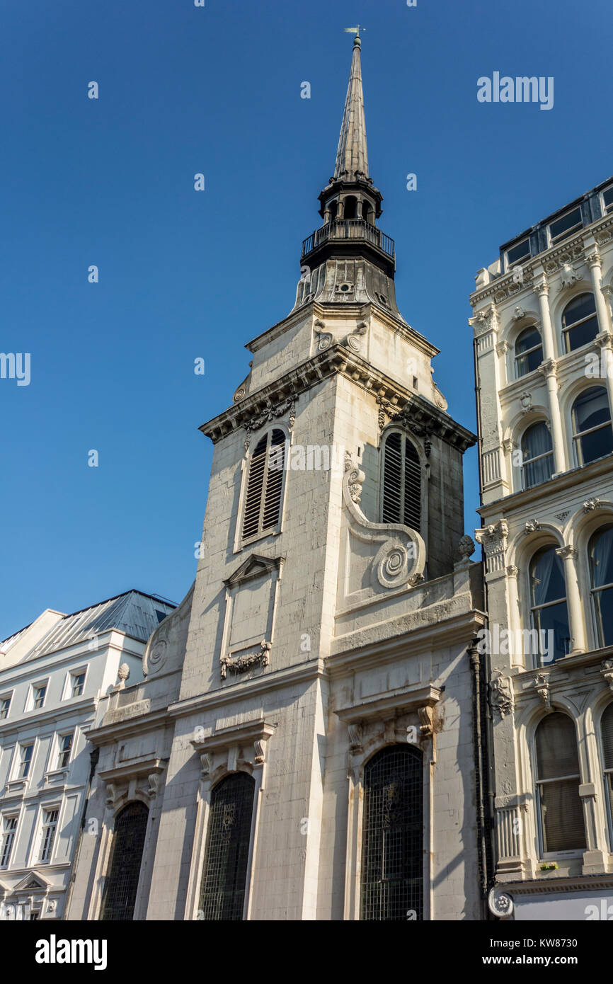 The Guild Church of Saint Martin within Ludgate, St Martin, Ludgate Hill by Sir Christopher Wren - Stock Image