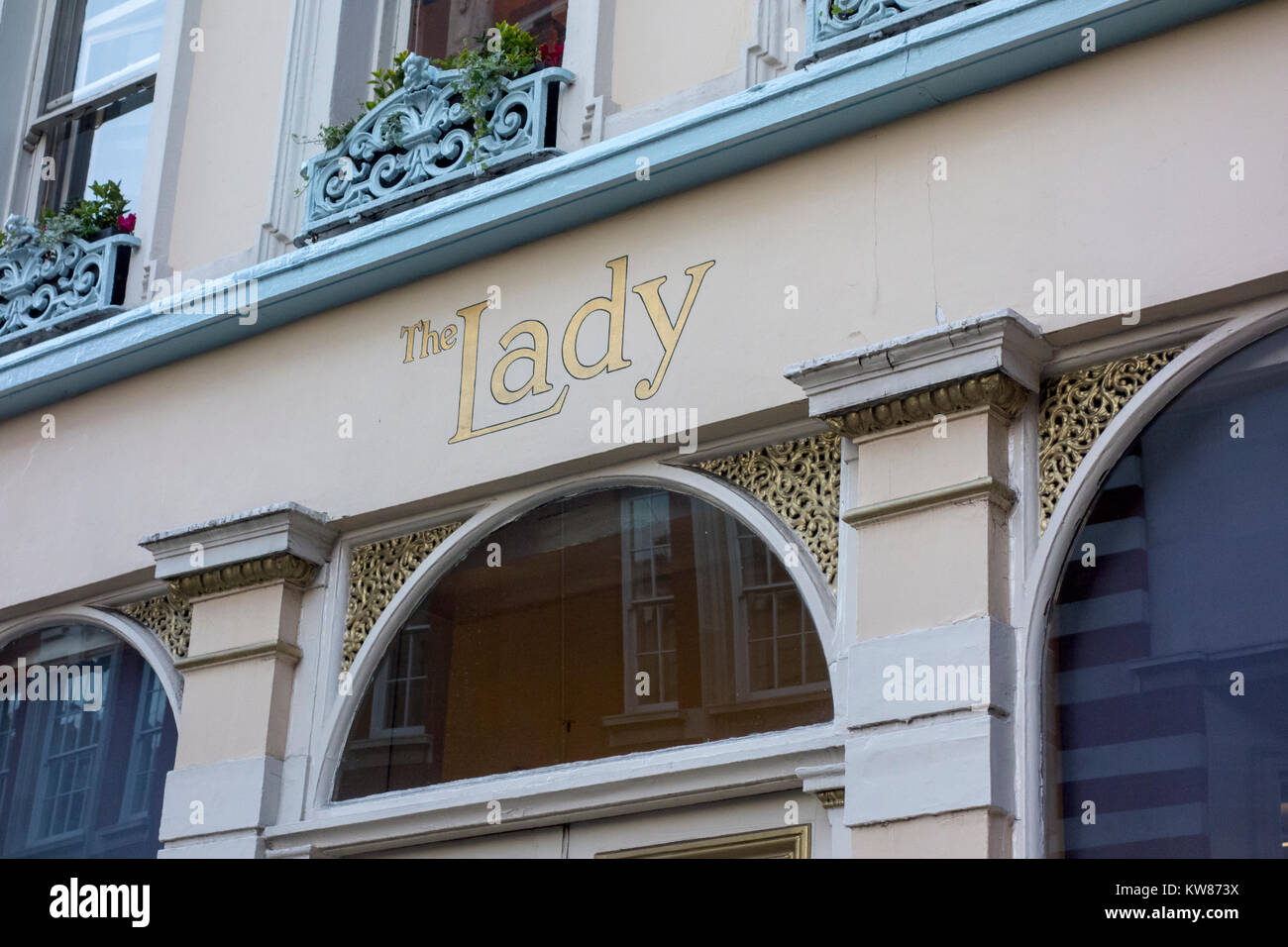 The Lady, Bedford Street, Covent Garden, London, UK - Stock Image