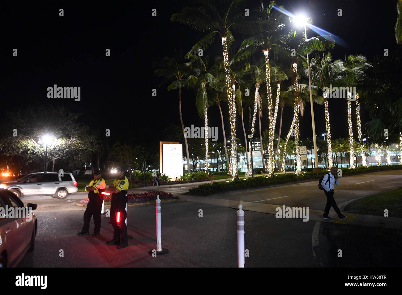 AVENTURA, FL - DECEMBER 23: Police said that there were no victims