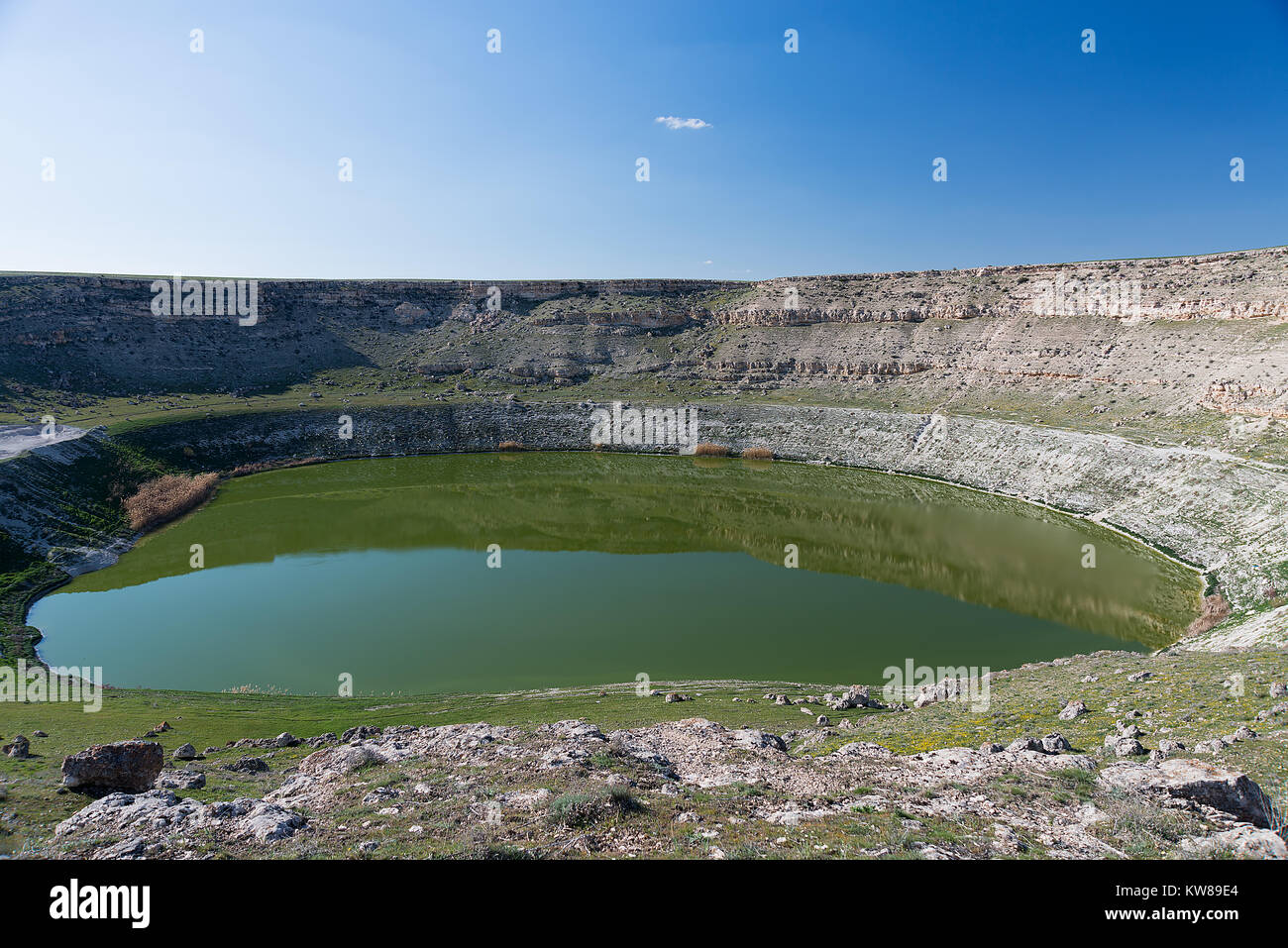 Sinkholes around Konya province of Turkey - Stock Image