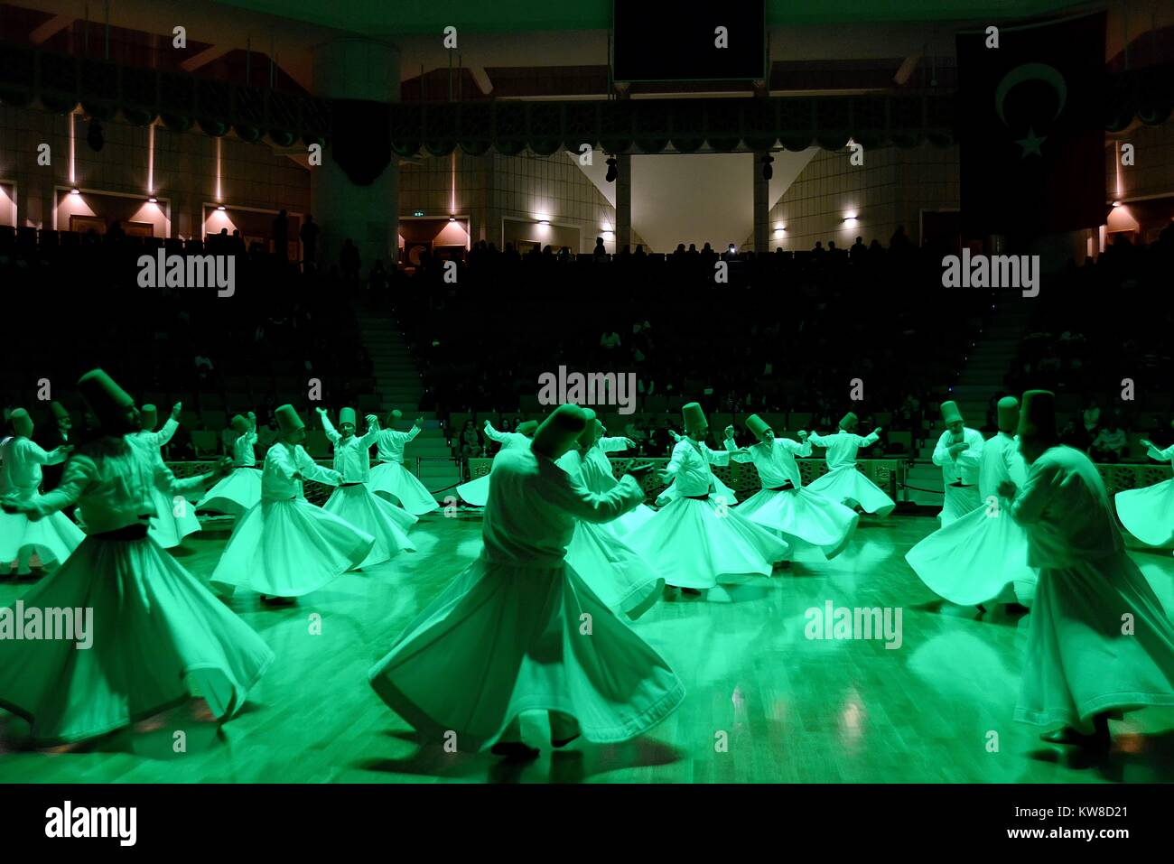 MARCH 28,2015 KONYA TURKEY Sufi whirling is a form of Sama or physically active meditation which originated among - Stock Image
