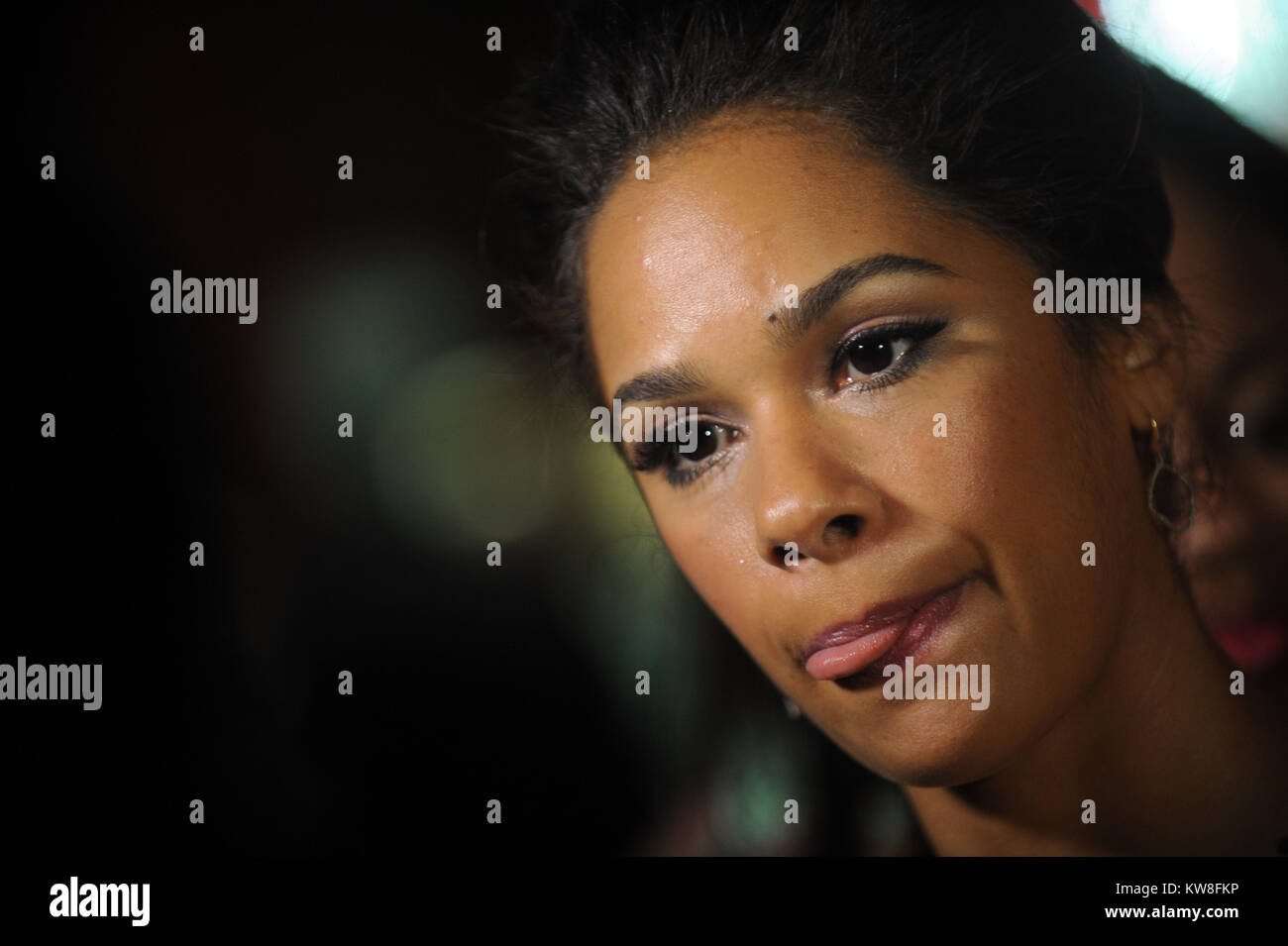NEW YORK, NEW YORK - APRIL 08: Misty Copeland attends the Variety's Power Of Women: New York 2016 at Cipriani - Stock Image