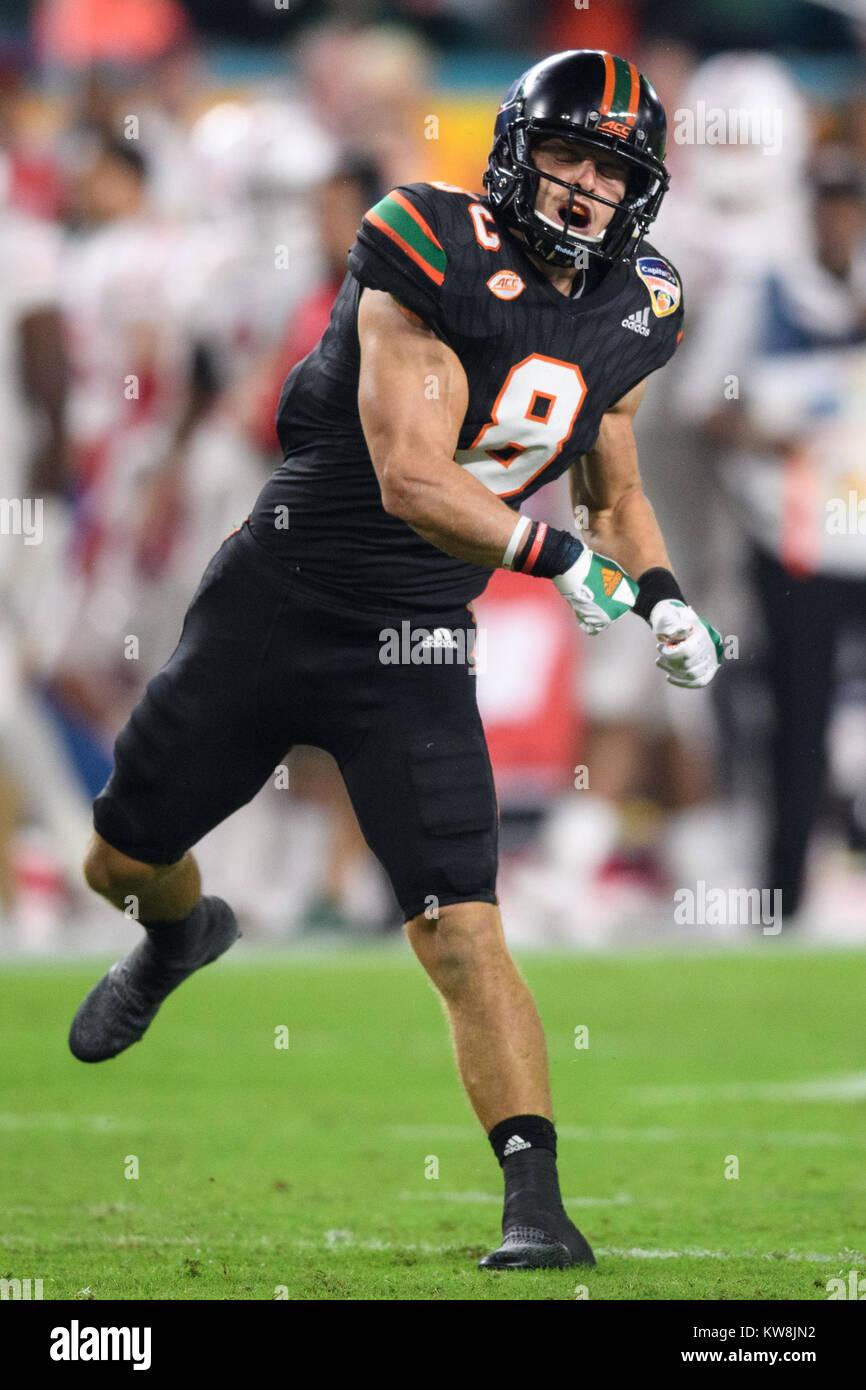 best loved ba35c 42e72 Miami Hurricanes wide receiver Braxton Berrios (8) during ...