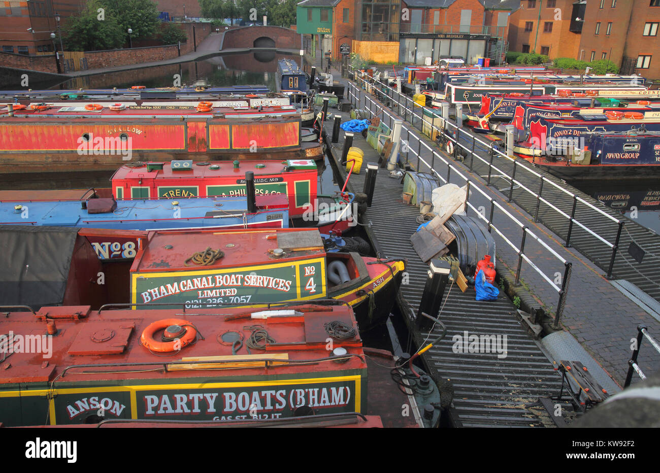 gas street canal basin in birmingham's canal network birmingham england Stock Photo