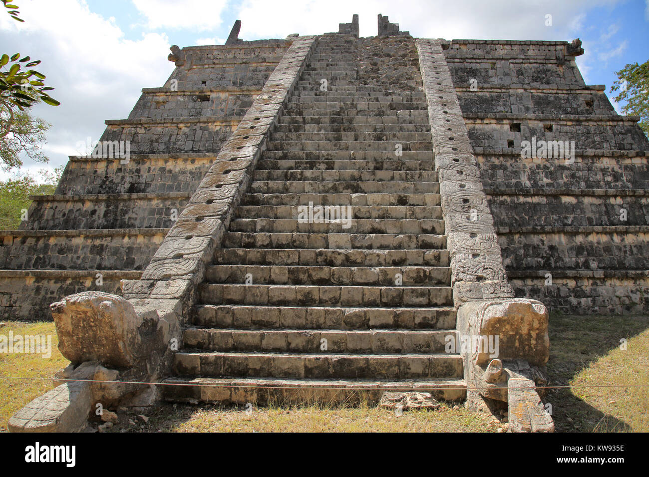 the ossuary at chicken itza mexico - Stock Image