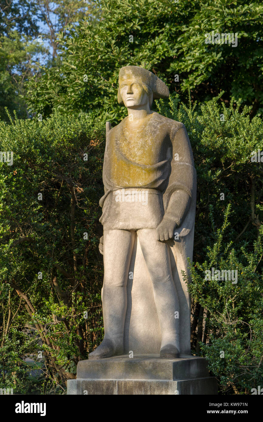 'The Revolutionary Soldier' by Erwin F. Frey ,part of the Ellen Phillips Samuel Memorial on Kelly Drive, - Stock Image