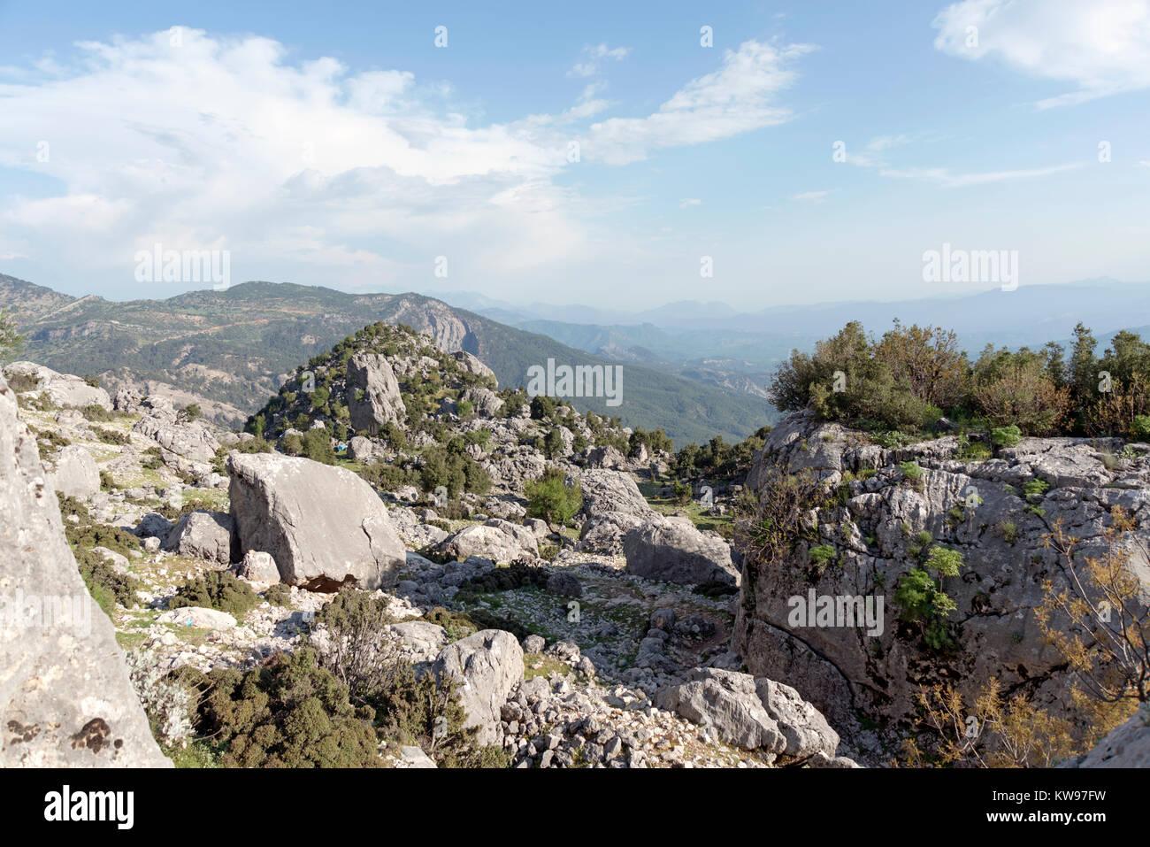 Kapikaya ruins in Isparta city,Turkey. - Stock Image