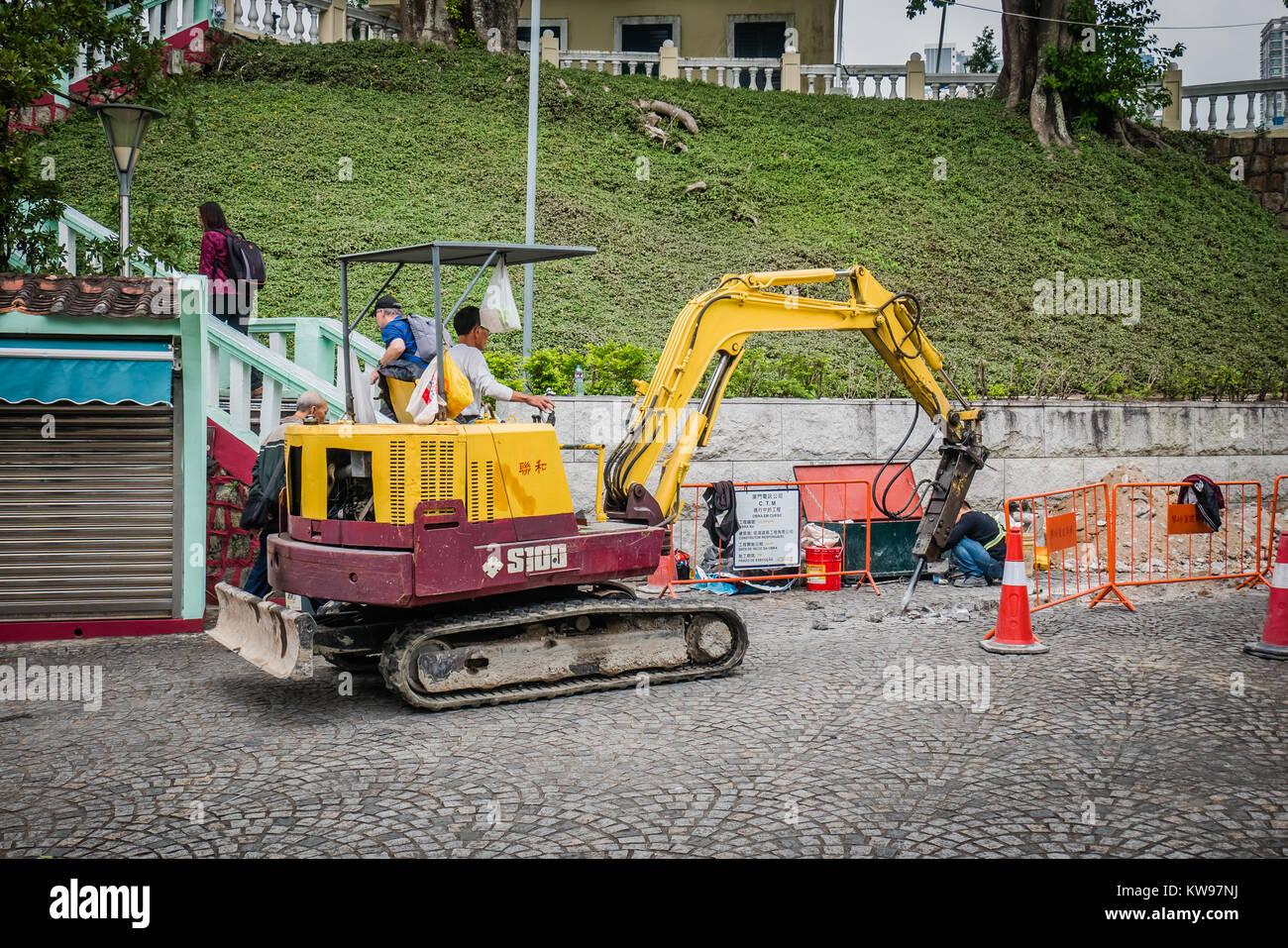 construction work on the street Stock Photo