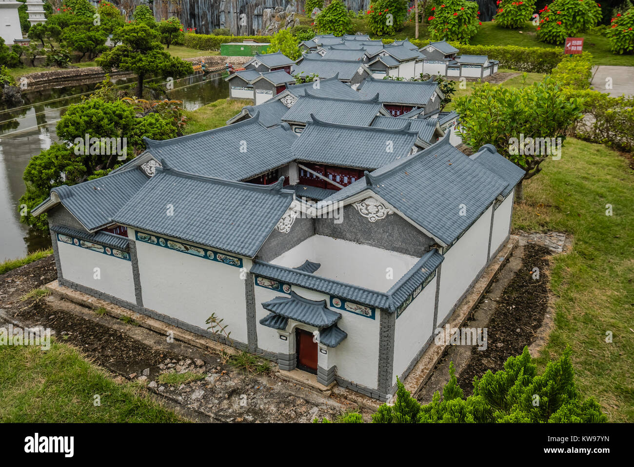 chinese landmark miniature version yunnan - Stock Image