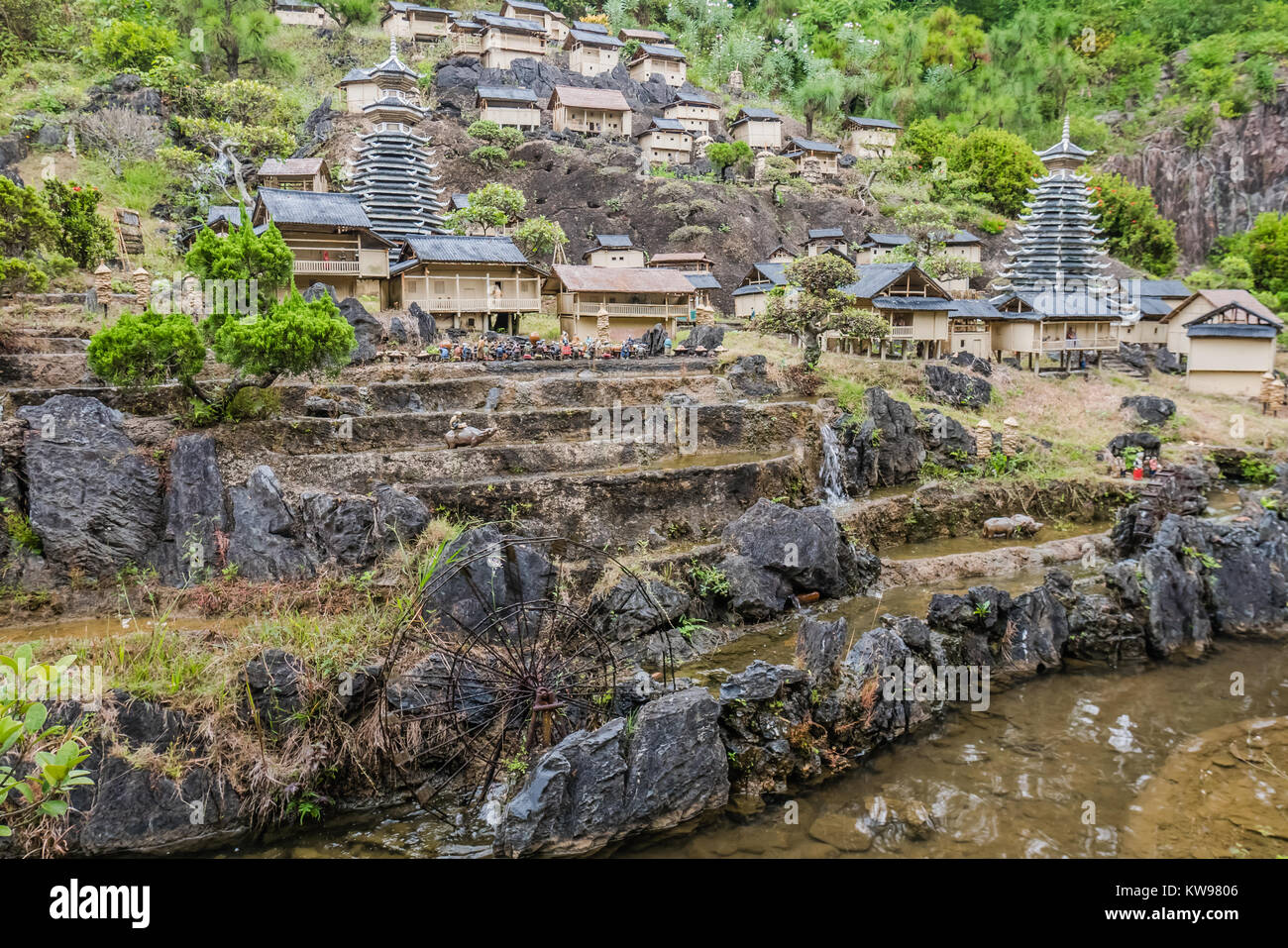 chinese landmark miniature version - Stock Image