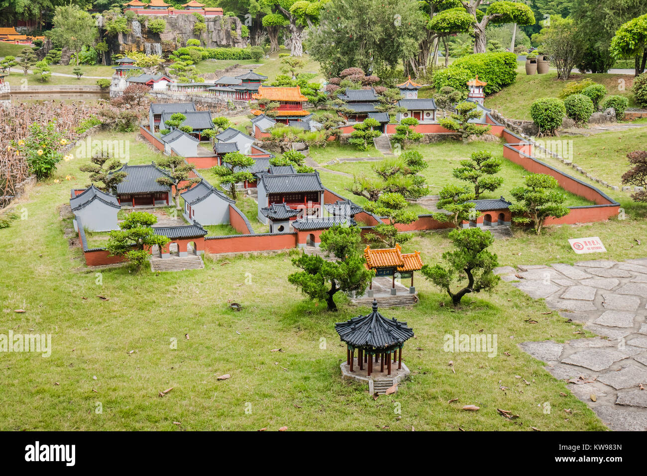 chinese landmark miniature version fabled abode of immortals - Stock Image