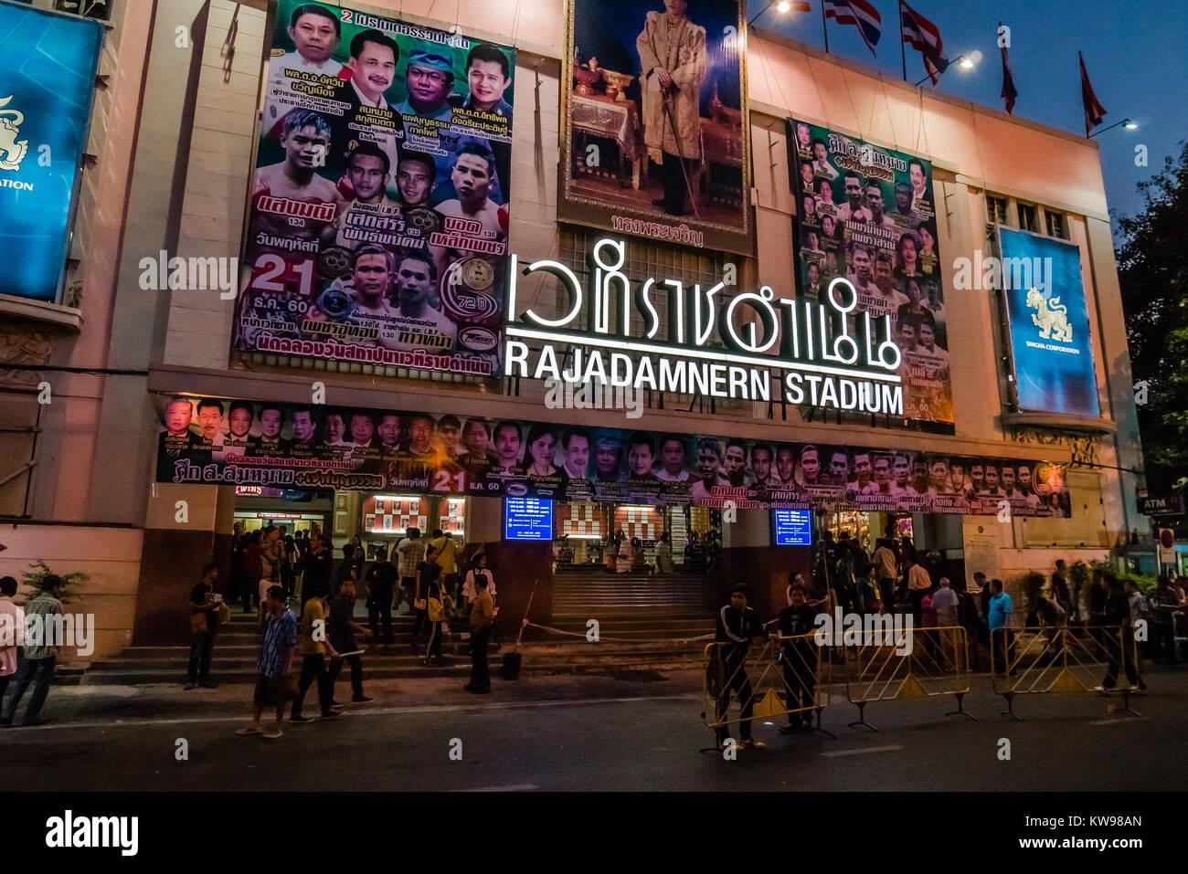 thai boxing stadium in bangkok - Stock Image
