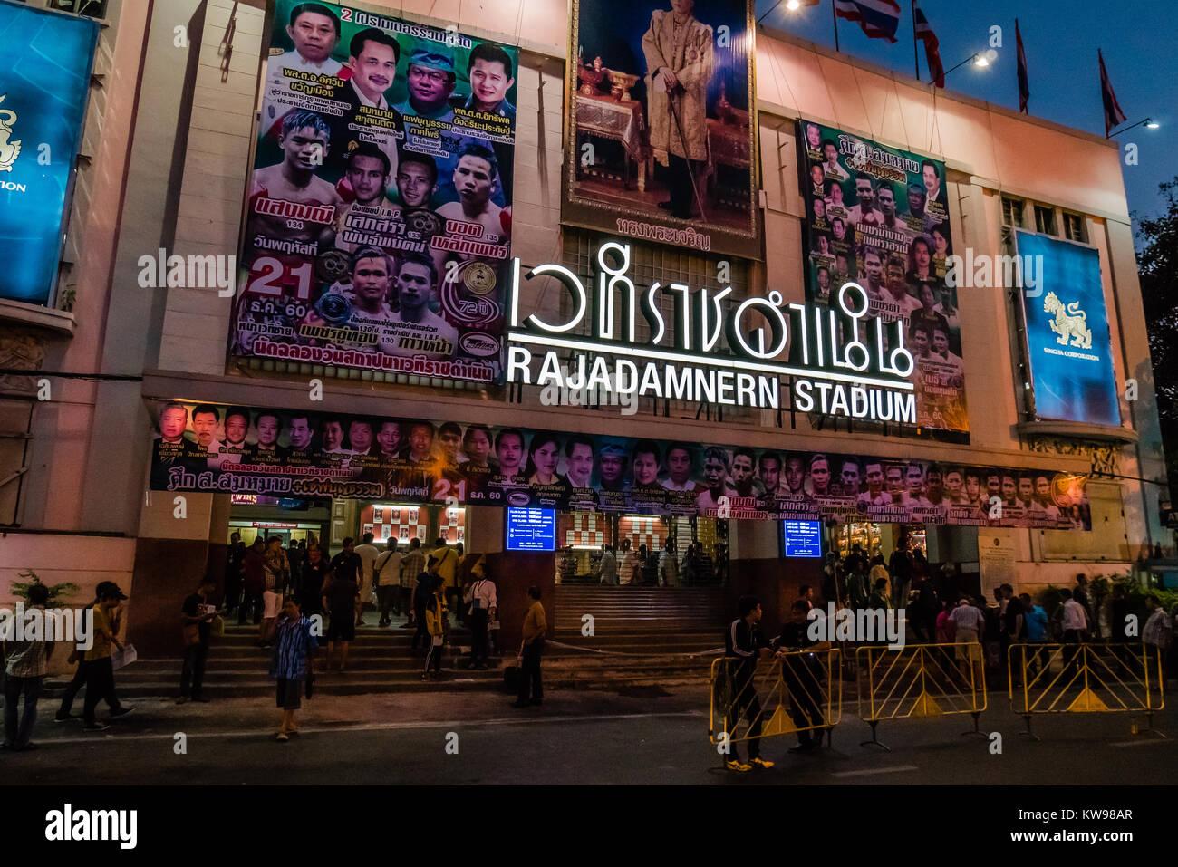thai boxing stadium - Stock Image