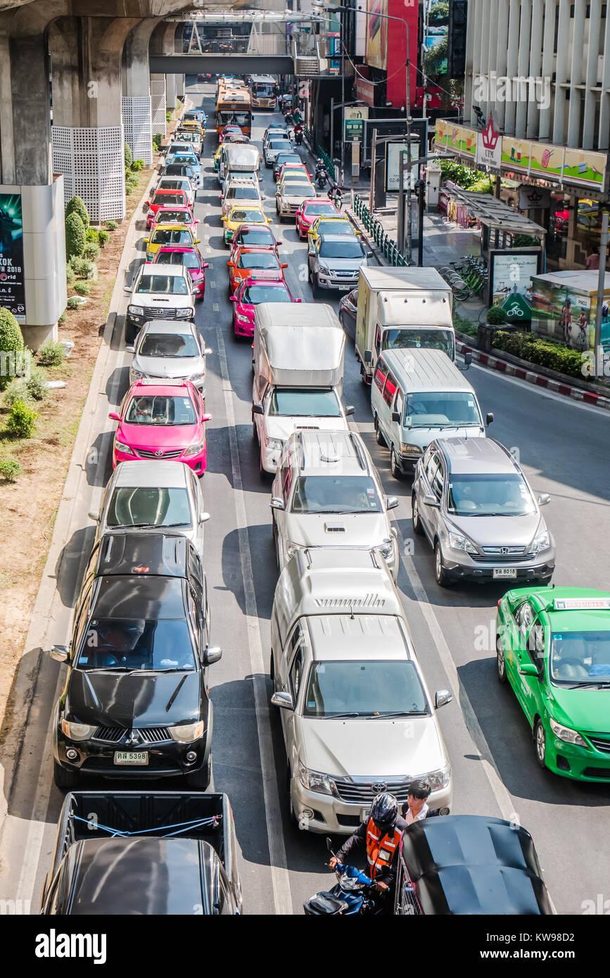 bangkok traffic congestion - Stock Image