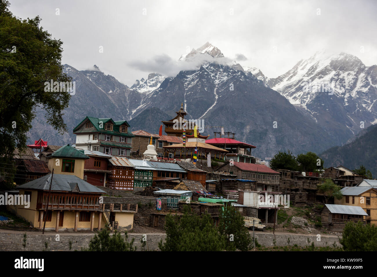 Landscapes from Kalpa village from the road trip of Spiti Valley, Himachal Pradesh, India. - Stock Image