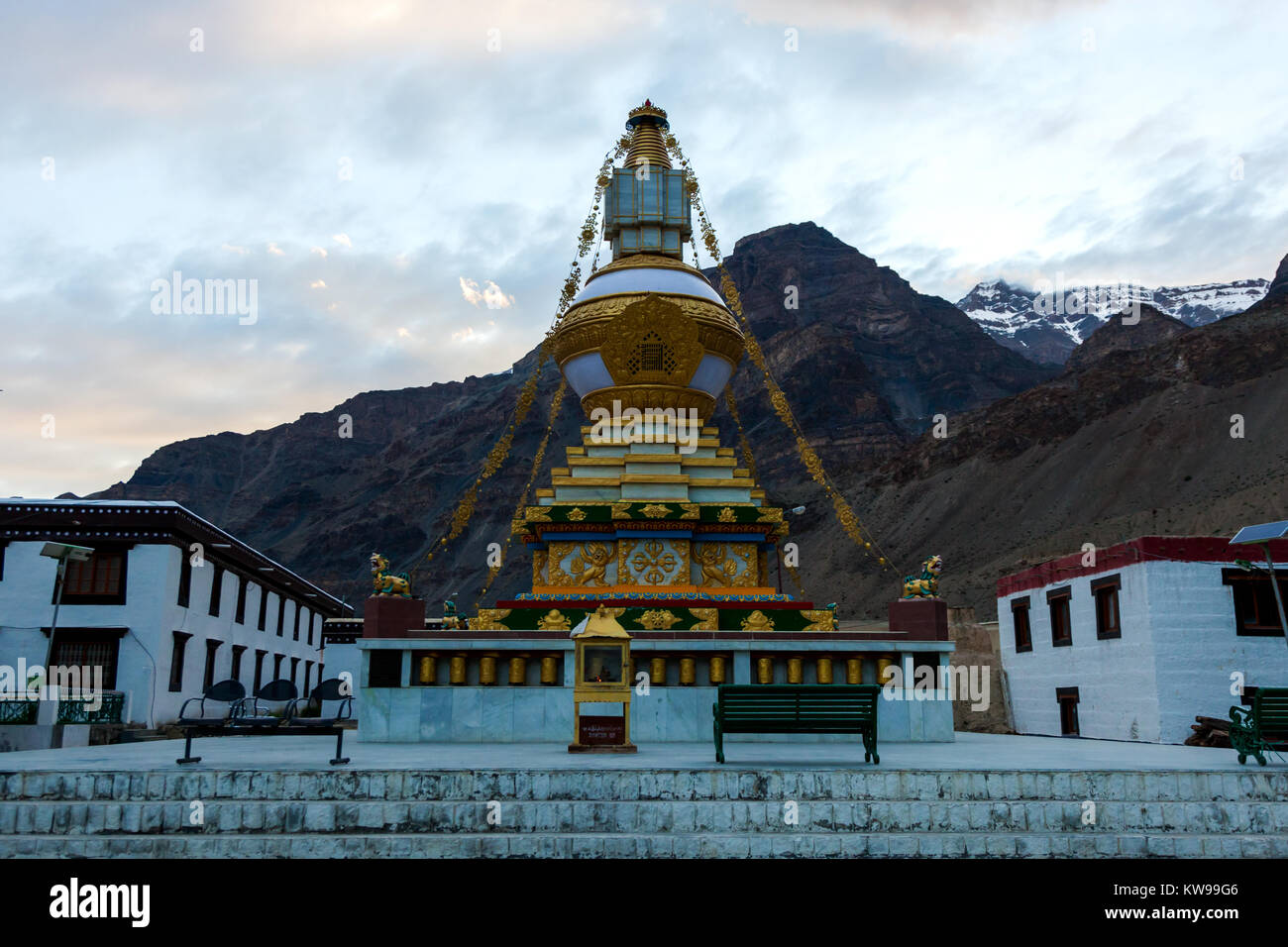 Tabo monastery and relics from the road trip of Spiti Valley, Himachal Pradesh, India. - Stock Image