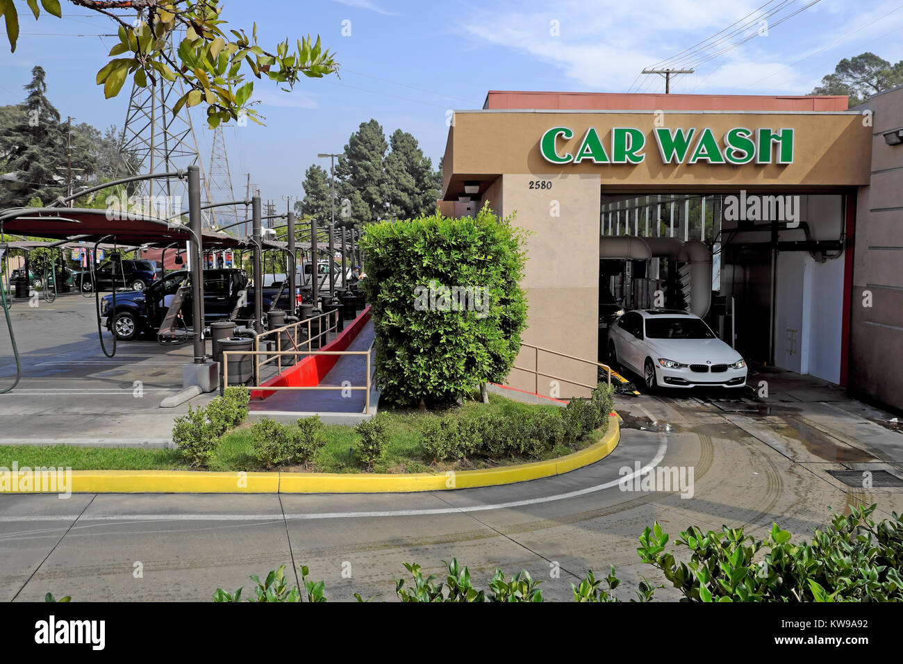 Car wash los angeles stock photos car wash los angeles stock a car emerging from an automatic car wash on glendale boulevard in the silver lake area solutioingenieria Images