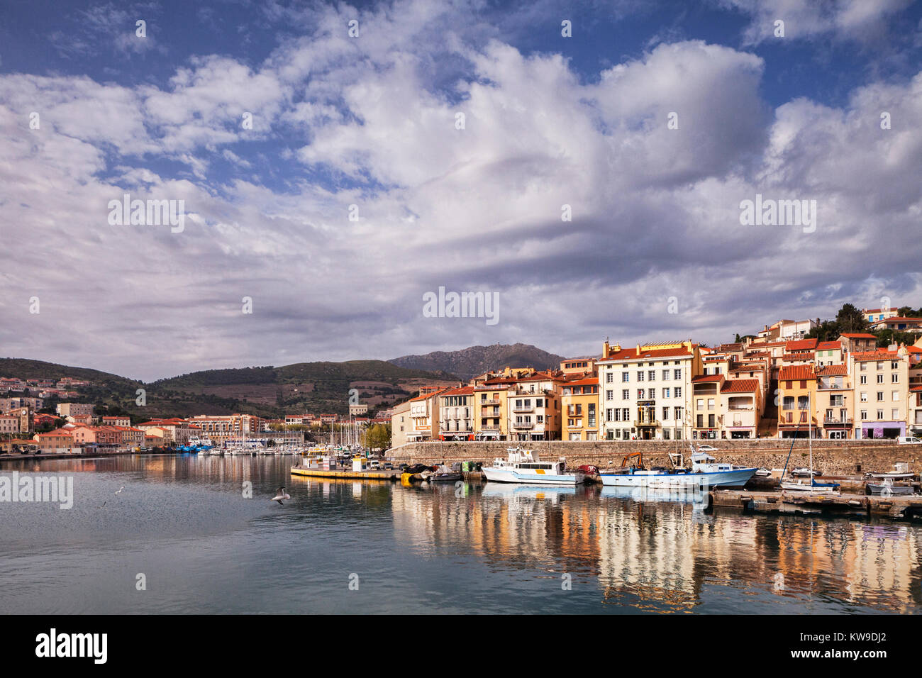 Port Vendres, Languedoc-Roussillon, Pyrenees-Orientales, France, Stock Photo