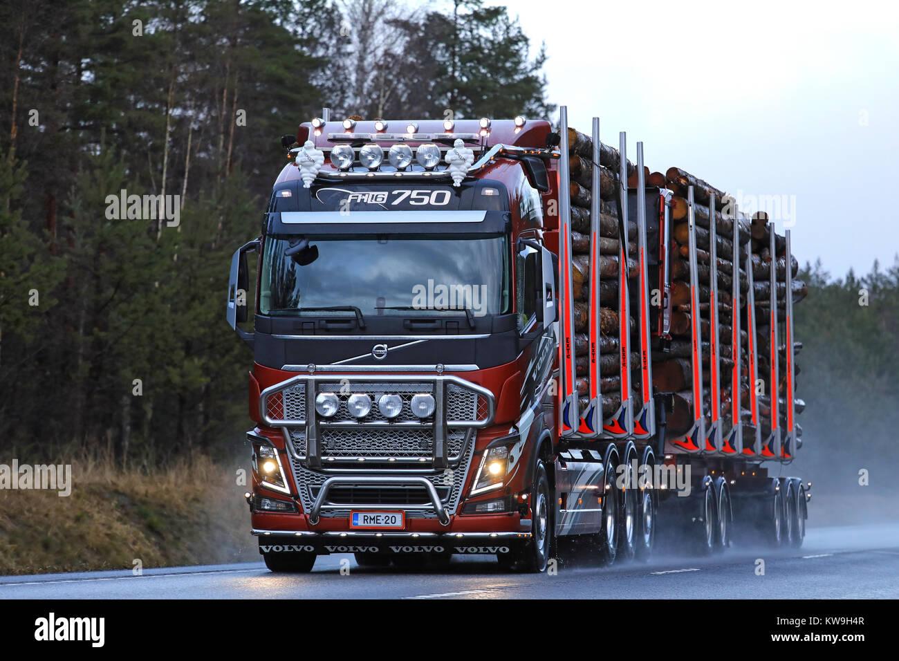Raasepori Finland December 27 2017 Volvo Fh16 750 Logging Truck