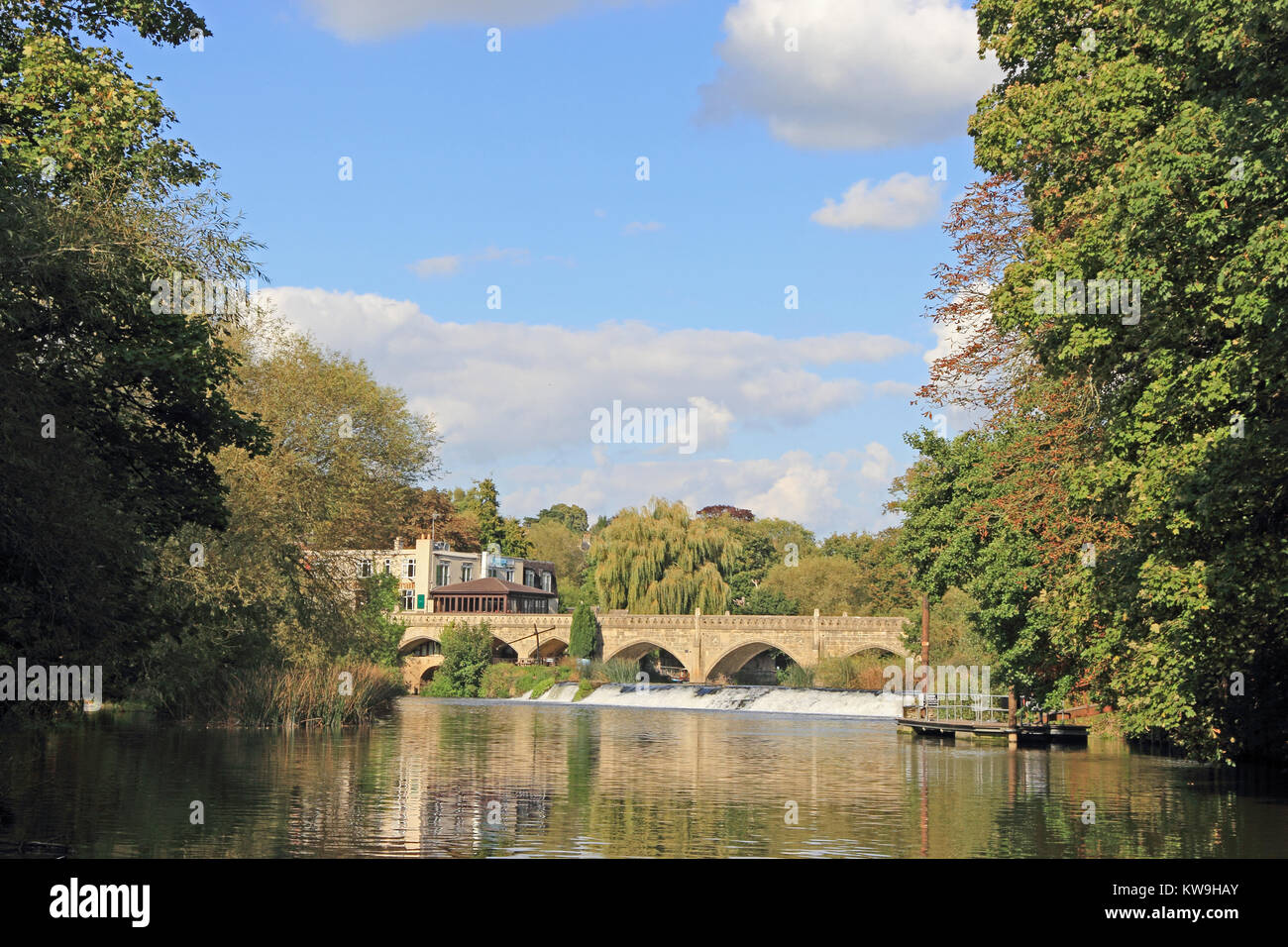 Batheaston Toll Bridge over River Avon, Batheaston, Bath Stock Photo