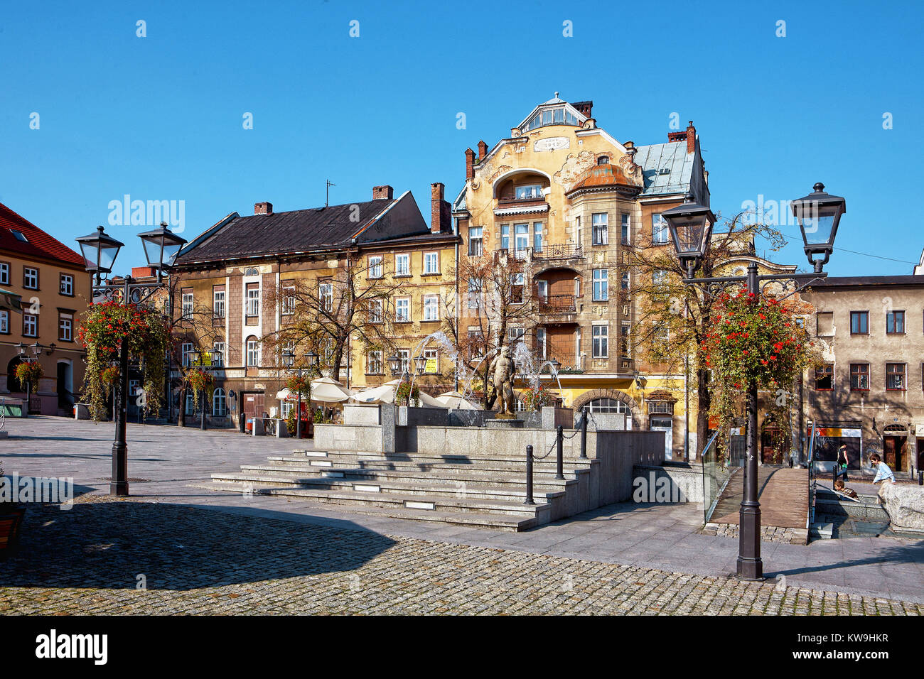 Poland, Bielsko-Biała, market - Stock Image