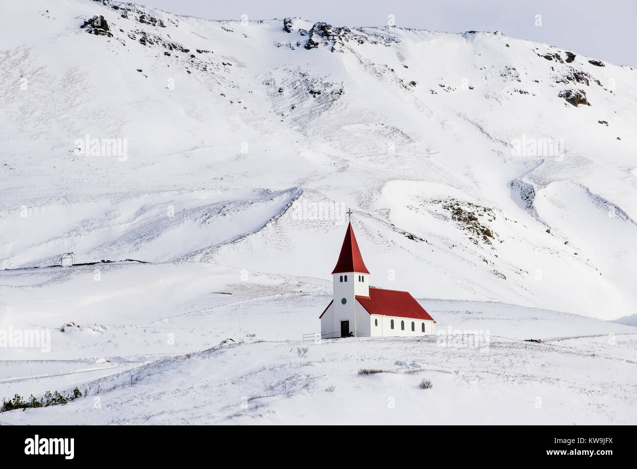 Church at Vic in Iceland Stock Photo