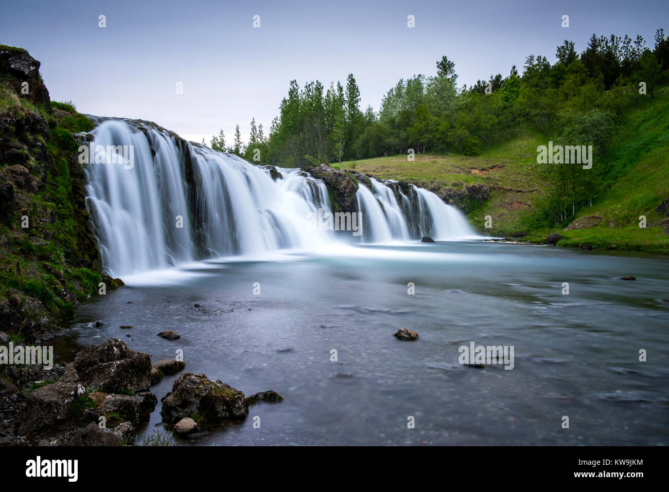 Iceland Waterfall Stock Photo