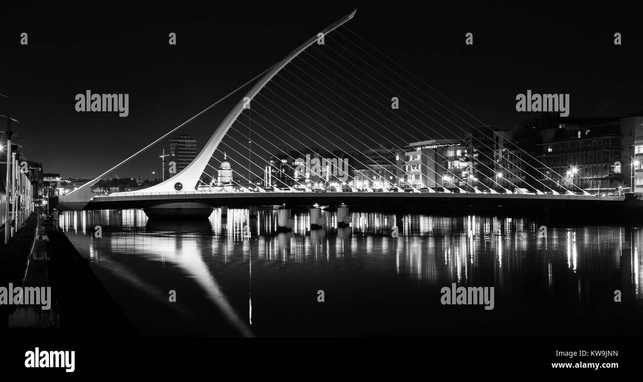 Samuel Beckett Bridge, Dublin, Ireland - Stock Image
