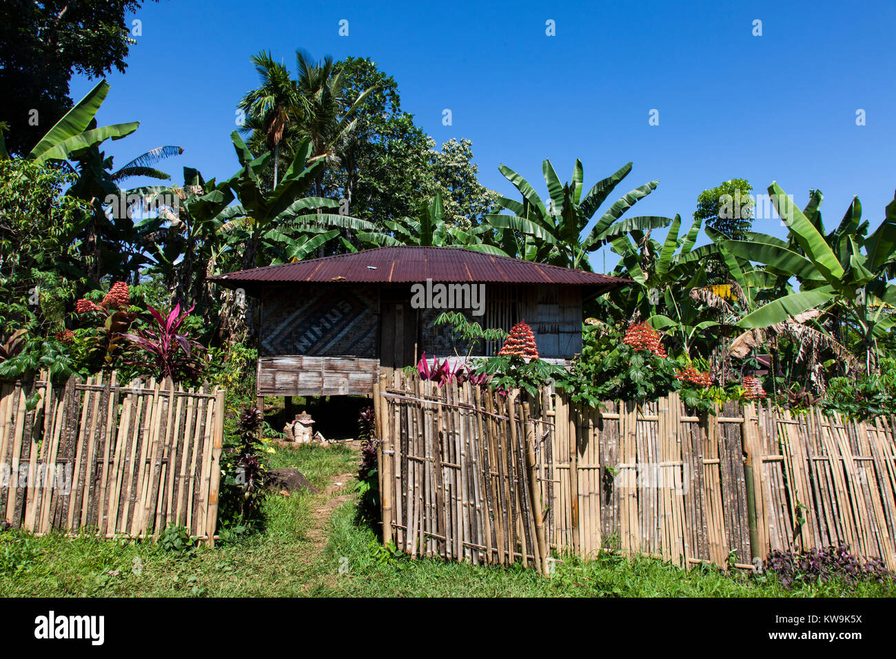 Indonesian Hut In A Small Flores Village Stock Photo