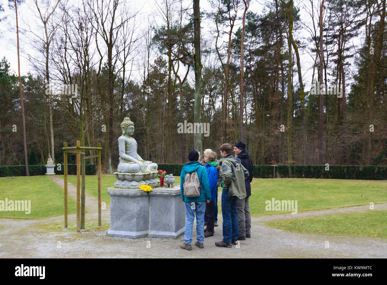 Buddhist cemetery graveyard - Stock Image