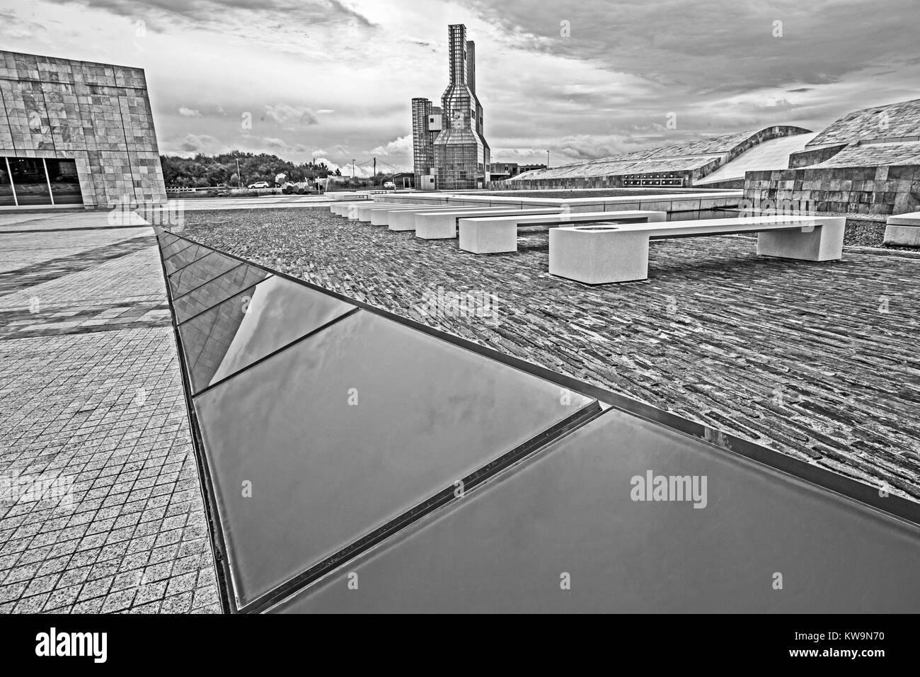Citade da Cultura de Galicia (City of Culture), Monte Gaias, Santiago de Compostela, Galicia, Spain - Stock Image