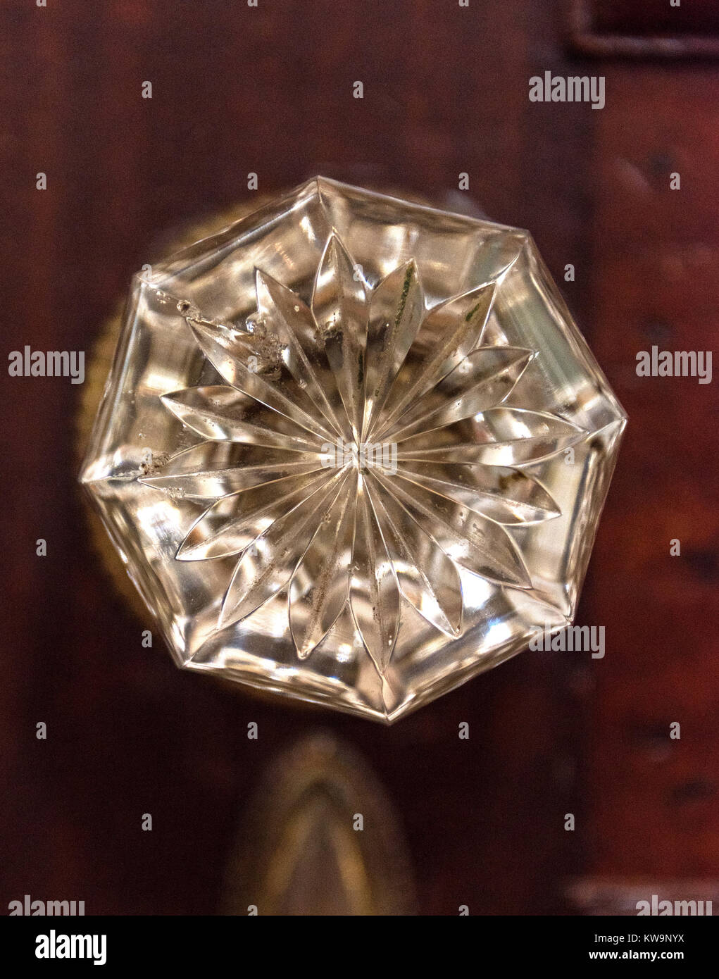 Antique Crystal Doorknob, Bar Harbor, Maine   Stock Image