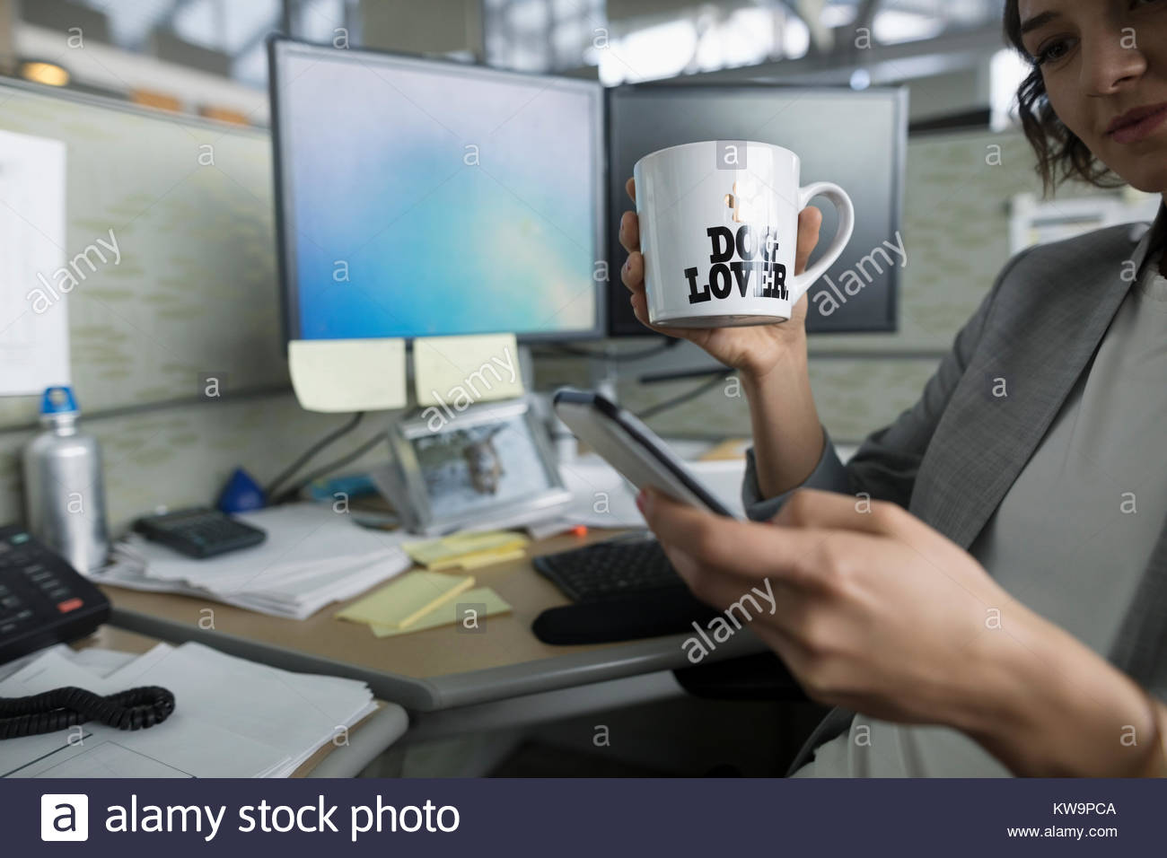 Businesswoman with - Stock Image