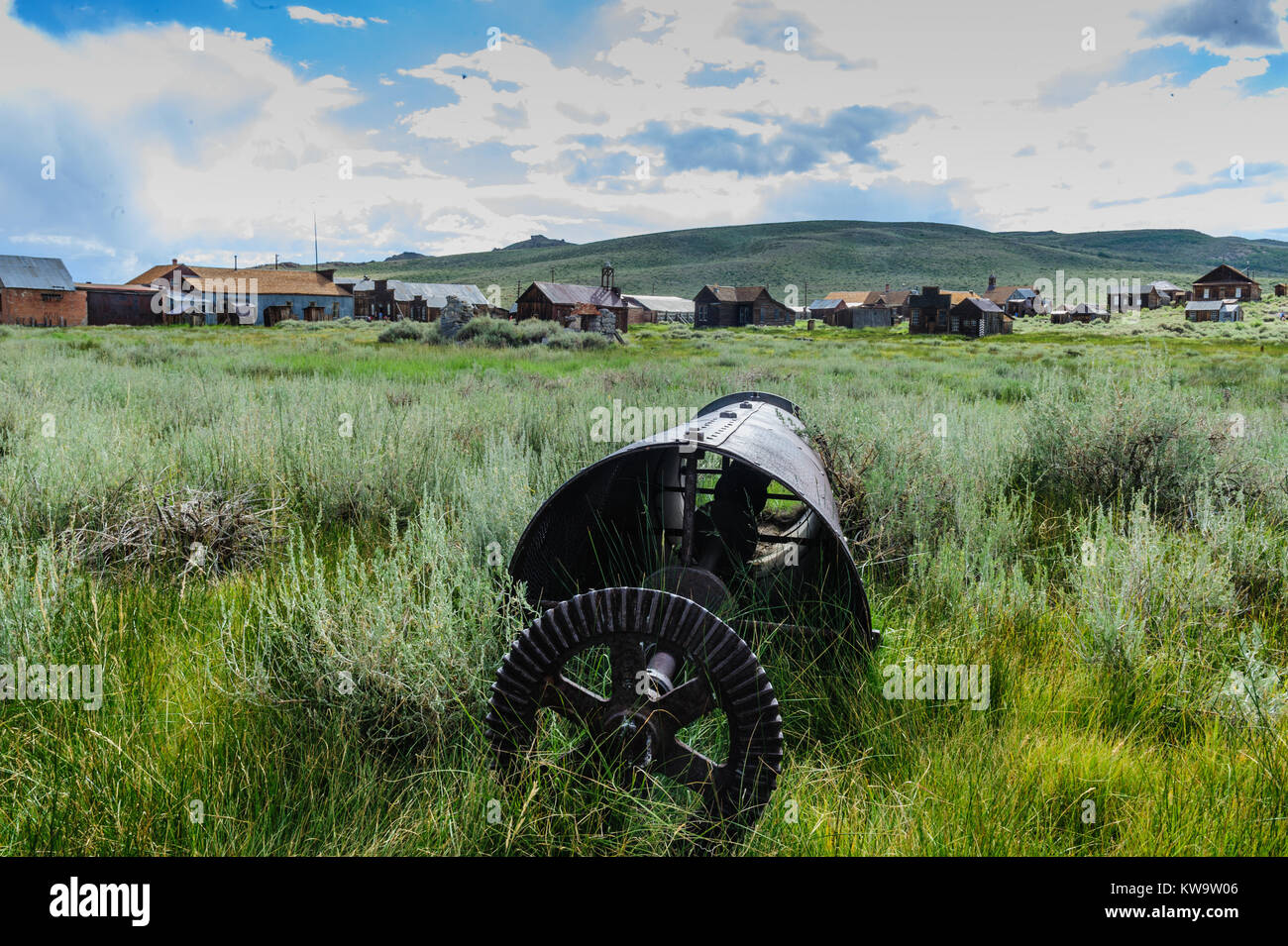 Old, abandoned Mining Equipment Stock Photo
