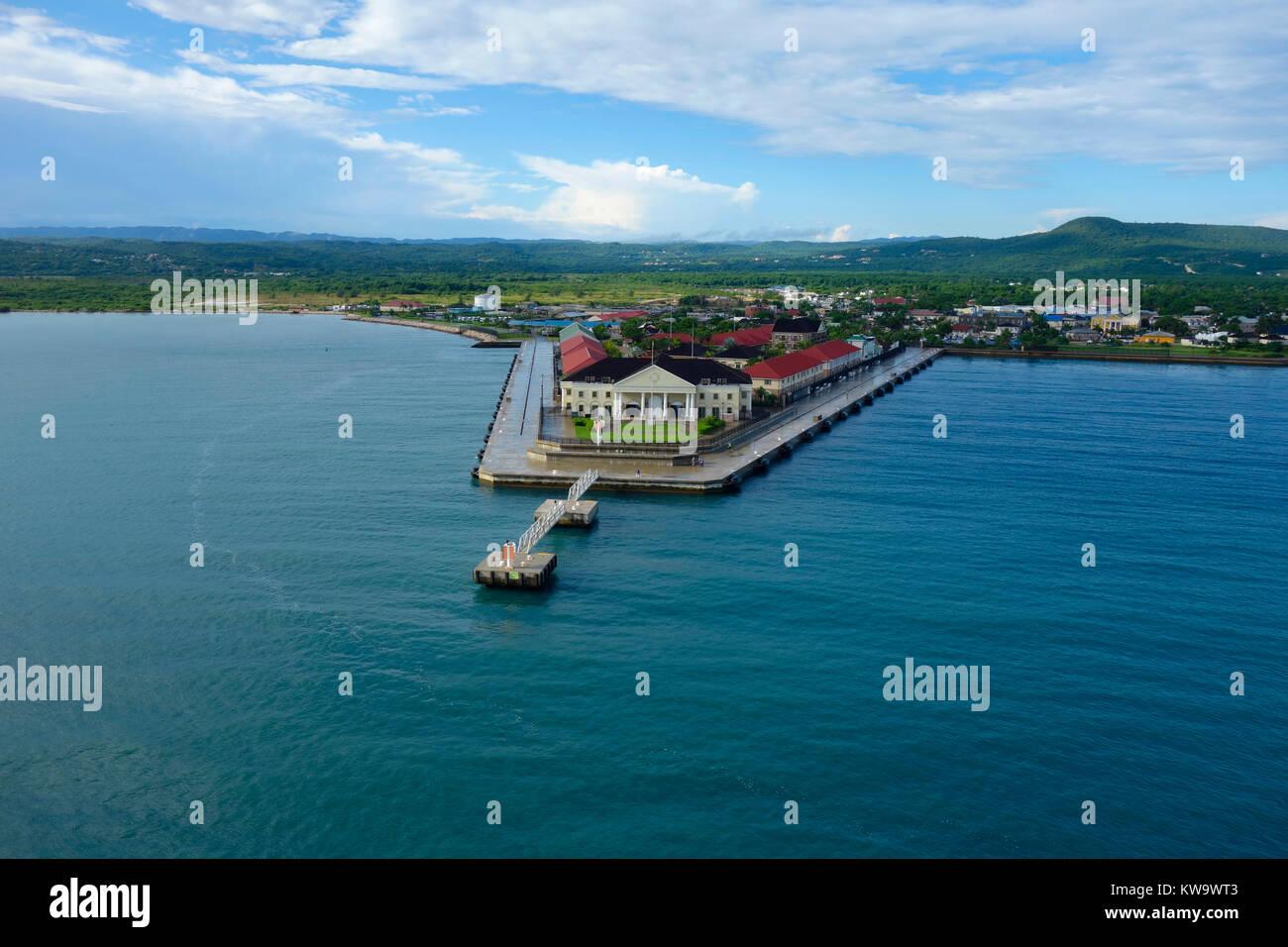 Falmouth Cruise Port, Falmouth, Jamaica. - Stock Image